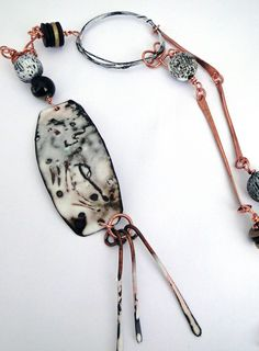 Birch Bark Necklace with Debora Mauser Level: All Levels Technique: Assembly,Enameling,Metalwork,Torchwork