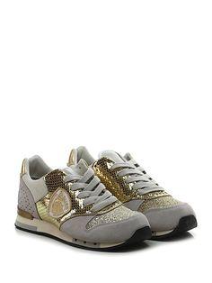 Blauer - Sneakers - Donna - Sneaker in pelle laminata effetto rettile,  camoscio e glitter