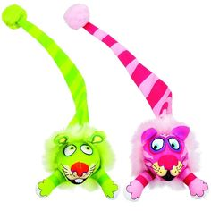 Bamboo Pet CAM650074 Fat Cat Kitty Hoots Tail Chaser Catnip Toy, Multicolor > More infor at the link of image  : Cat toys