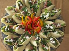 Chopped Salad Appetizer Shells