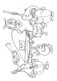 coloring page Musical Instruments on Kids-n-Fun. Coloring pages of Musical Instruments on Kids-n-Fun. More than coloring pages. At Kids-n-Fun you will always find the nicest coloring pages first! Preschool Music, Music Activities, Music Games, Music Lesson Plans, Music Lessons, Primary Lessons, Cool Coloring Pages, Coloring Books, Free Coloring
