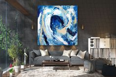This item is unavailable Oversized Canvas Art, Large Canvas Art, Large Wall Art, Modern Wall Art, Modern Decor, Colorful Artwork, Office Wall Art, Abstract Wall Art, Textured Walls