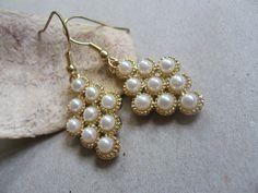 Grape dangle earrings