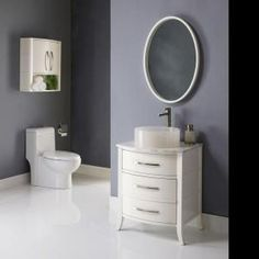 homedepot   $617 DECOLAV Lola 25.31 in. W x 20.75 in. D x 30.50 in. H Vanity Cabinet Only in White-5254-WHT at The Home Depot