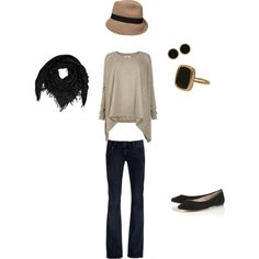 I love an outfit with a cute hat!