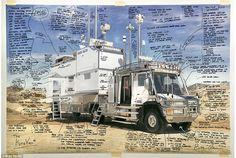 これなら世界一周も楽々かも。 著名な技術者、発明家である61歳のBran Ferran氏が、4歳の愛娘キラちゃんと世界旅行するために数億円をかけてカスタマイズしたキャンピングカー「Kira Van」は驚きの連続です。 まずは、「Kira Van」のオフィスエリア。コンピューターと機材がぎっしり積まれています。 キッチン...