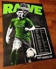"For Sale - 2014 BRAD EVANS Seattle Sounders FC 24"" x 18"" Schedule Poster MLS Soccer - http://sprtz.us/SoundersEBay"
