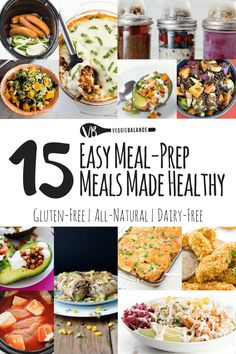 15 Easy Meal Prep Me