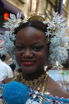 Tembleques, hair embelishment for pollera, national costume of Panamá