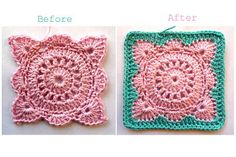 Annie's Place: Solid 'Willow' Crochet Block How-To love her color combinations of finished blocks