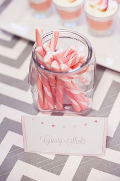 Pink and gray party inspiration #candybar