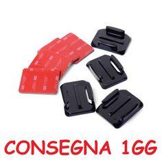 1 set Supporti Adesivi casco per action camera compatibili SJcam sj4000 sj5000 sj6000 sj7000 Gopro Hero 3 3+ 4 xiaomi yi (4 adesivi + 4 supporti)