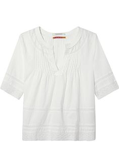 Hvid Bluse 136787 Maison Scotch Pintuck Top - white