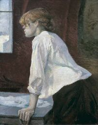 Woman with Gloves Art Canvas//Poster Print A3//A2//A1 1891 Toulouse  Lautrec