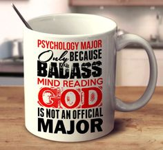 Psychology Major Only Because Badass Mind Reading God Is Not An Official Major Psychology Questions, Psychology Humor, Psychology Courses, Psychology Programs, Psychology Student, Psychology Degree, Child Development Psychology, Child Development Chart, Child Development Activities