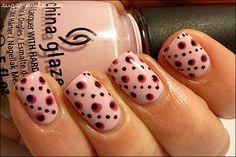 Sweet Sugar, 2/20/13: Pink Dots (inspired by Raggio di Luna Nails, 2/9/13 post)