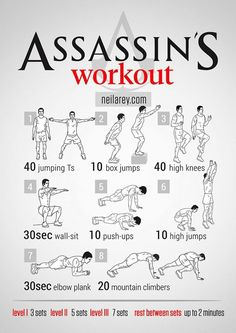 Fitness guru Neila Rey has created a fantastic series of visual workout posters that are inspired by a popular movies, television shows, and video games. Fitness Workouts, Gym Workout Tips, Workout Challenge, At Home Workouts, Fitness Tips, Fitness Motivation, Weight Workouts, Workout Routines, Parkour Workout
