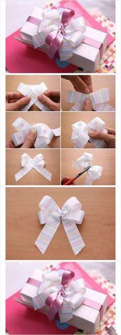 DIY how to make present-bow