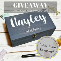 Happy #Friday! We want to spread some love with a FABULOUS GIVEAWAY!! FOLLOW & LIKE TO WIN! One lucky winner will receive a handcrafted personalised wooden keepsake box made just for them! The winner can choose any personalisation for their keepsake box! This box is hand-painted and sized at 30x18x10.5cm. It's our absolute best seller - worth 35 but with this #giveaway it's on us! --------- HOW TO ENTER:  1. Follow our Instagram account @makememento 2. Like this giveaway post  EXTRA ENTRIES…