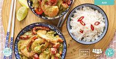 Reuzengarnalen met rijst en groenten