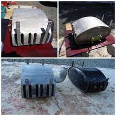 The oil tank is an item where the design is not obvious in most images.  Its used on dry sump engines and both stores and cools the oil.  Cooling is via air passages running through the volume of the tank as you can see from the attached images.  The black tank is an original.  #vintagealfamonza #vintage8C #alfaromeo8C #vintageracing