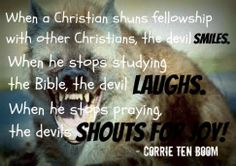 The devil's reaction to Christian negligence.