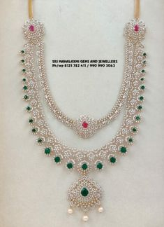 South Indian Jewellery, Indian Jewellery Design, Indian Jewelry, Jewelry Design, Diamond Jewelry, Gold Jewelry, Jewelry Necklaces, Temple Jewellery, Necklace Designs