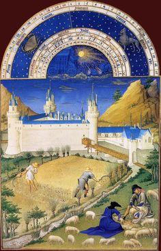 July (1412-16)  Limbourg brothers  Très Riches Heures du duc de Berry   Musée Condé, Chantilly   - -