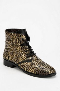Deena and Ozzy Gold Embellished boots size 6 #DeenaandOzzy #fashion