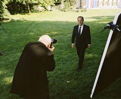 Dans les coulisses de la photo officielle du président François Hollande en 2012.