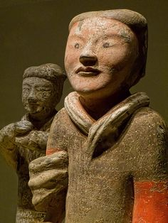 Figurine of a Western Han Dynasty soldier from the Yangjiawan Tombs near Xianyang in the Shaanxi Province of China mid-2nd century BCE