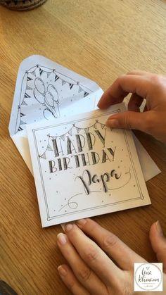 "Lena Klimann on Instagram: ""Handlettering - Happy Birthday Karte"" Handlettering Happy Birthday, Instagram"