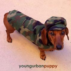 SALE Military Camo Pocket Walking Jacket for by YoungUrbanPuppy, $19.50