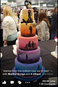 I love how the cake tells a story... very creative.