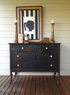 Ideas for bedroom black paint diy projects Decor, Painted Furniture, Black Bedroom, Bedroom Paint, Black Painted Furniture, Home Decor Items, Furniture, Black Furniture, Bedroom Decor