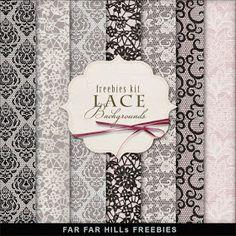 Far Far Hill: Freebies Lace Backgrounds. Click on link for freebie http://farfarhill.blogspot.ca/2013/04/freebies-lace-backgrounds.html?m=1