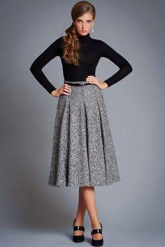 Теплые юбки (91 фото): длинные и миди, зимние и осенние модели, вязаные крючком и спицами, с чем носить, с кофтой