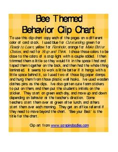 A clip chart is an easy behavior management tool that I have found very effective in my classroom. Just print out the pages and follow the directio...
