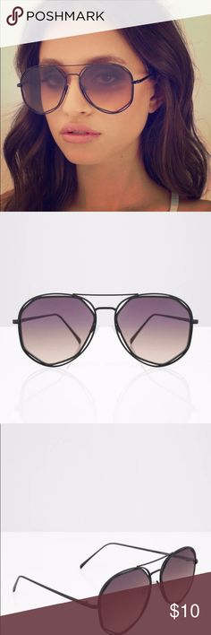 sunglasses gradient aviator sunglasses. never worn. perfect for a festival! Tobi Accessories Sunglasses