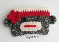 FREE SOCK MONKEY Cup Cozy Crochet Pattern | FREE Sock Monkey Cup Cozy