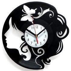Zegar z płyty winylowej Chic | Zegary winylowe |