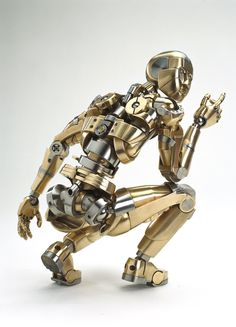 Robotics: Incredible Little Mech Sculpture. Arte Robot, Robot Art, Robots Robots, Cyberpunk, Science Fiction, Giant Snail, Sculpture Metal, Human Sculpture, Humanoid Robot