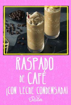 receta facil de cafe con leche condensada Yogurt Recipes, Dessert Recipes, Desserts, Coffee Frappuccino, Chocolates, Summer Treats, Frozen Yogurt, Coffee Drinks, Morning Coffee