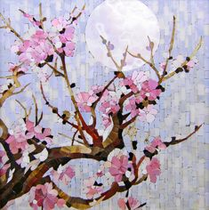 Мозаичная картина Лунная сакура