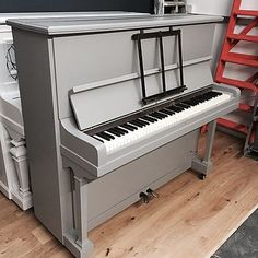 The painted piano company refurbish and upcycle old piano turning them into beautiful items of painted furniture