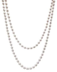 Savannah Pearls AAA Intense Luster 6.5-7.0mm White Oval Freshwater Cultured Pearl Rope (65 Inches) * More info could be found at the image url.