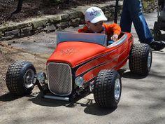Our hot rod stroller Kids Wagon, Toy Wagon, Soap Box Cars, Homemade Go Kart, Racing Baby, Diy Go Kart, Drift Trike, Go Car, Wooden Car
