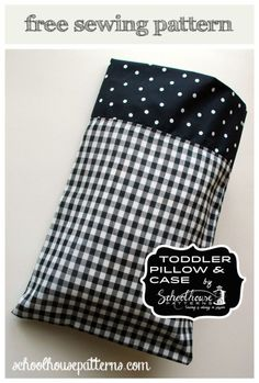 The Toddler Pillow & Case : Free sewing pattern. Toddler Sized Pillow and Case . : The Toddler Pillow & Case : Free sewing pattern. Toddler Sized Pillow and Case by Schoolhouse Patterns. Sewing Patterns Free, Free Sewing, Sewing Tutorials, Sewing Crafts, Sewing Projects, Sewing Ideas, Toddler Pillowcase, Pillowcase Pattern, Pillowcase Tutorial