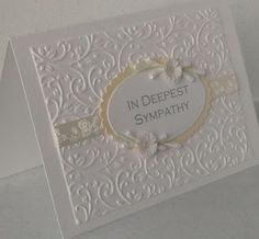 Paper Daisy Cards: sympathy card