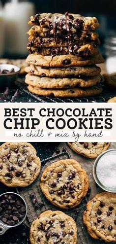 Fun Baking Recipes, Best Cookie Recipes, Sweet Recipes, Dessert Recipes, Best Chocolate Chip Cookies Recipe, Chewy Chocolate Chip Cookies, Cocolate Chip Cookie Recipe, Cookie Chips Recipe, Soft Cookie Recipe